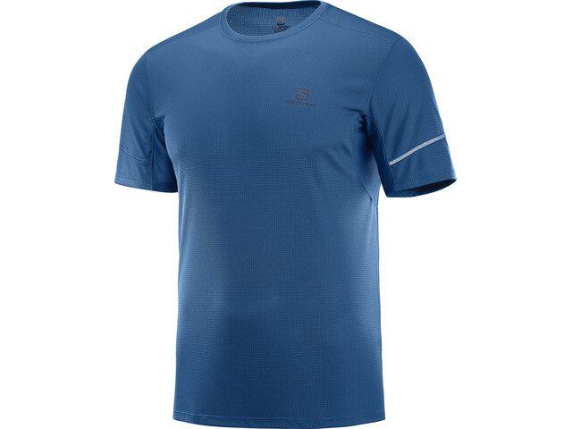 Salomon Agile SS Tee 2019 Men, poseidon